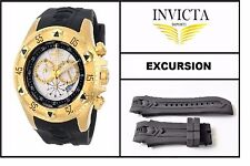Black Silicone Rubber Watch Band Strap For Invicta EXCURSION (#2)