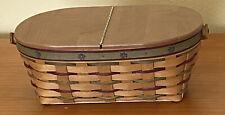Longaberger 2004 Heritage Days Collector Club Basket Maple Leaf Motif Combo