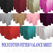 Luxury Non- Iron Plain dyed Poly Cotton Fitted Valance Sheet, single,Double King