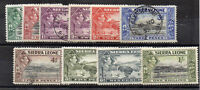 Sierra Leone 1938-44 values to 1s MH /FU CDS