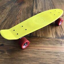 """Stereo Skateboard Company 22"""" Vinyl Penny Board Yellow/Red Skateboard Euc"""