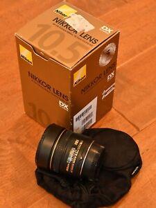 Nikon Nikkor 10.5mm f/2.8G ED AF DX Fisheye Lens NO RESERVE for D500 others