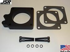 86-93 Mustang GT LX 5.0 Throttle Body EGR Spacer Delete Plate Kit 1in 80mm BLACK