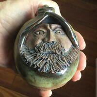 Amazing Minature Folk Art Pottery Jug - Detailed and Unique - Signed!