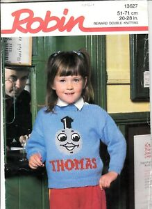 Knitting Pattern - (ROBIN)  THOMAS AND JAMES