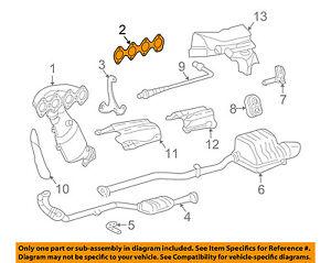 MERCEDES OEM 04-05 C230 Exhaust-Manifold Gasket 2711420380