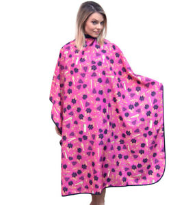 Styling Cape Hair Cutting Cape With Buttons King Midas Black Roses Capes