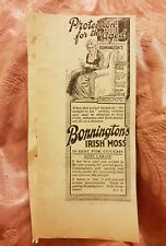 Bonnington's Irish Moss 1923 Advertisement