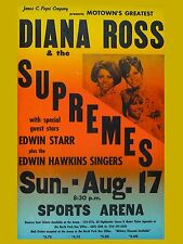 "Diana Ross and Supremes North Park 16"" x 12"" Photo Repro Concert Poster"