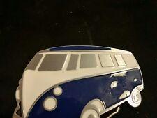blue Volkswagen bus belt buckle