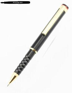 Older Rotring Esprit Mini / Telescope Push Pencil (0.5 mm) in Black-Gold