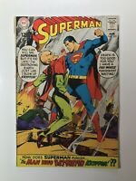 SUPERMAN #205 BLACK ZERO - Man who destroyed Krypton! DC Silver Age 1968 Sharp!