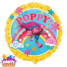 "Trolls Poppy 18"" Helium Foil Balloon Rainbow Cupcake Birthday Party Decorations"