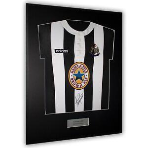 Framed Signed Alan Shearer Newcastle United Shirt Front Autograph Adidas COA
