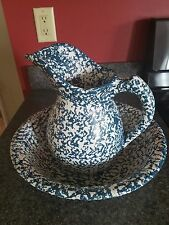 mccoy pottery sponge ware pitcher and bowl