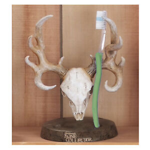 Bone Collector Tooth Brush Holder Resin Deer Skull Antler Logo Michael Waddell