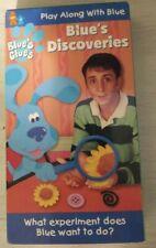 Rare Blue's Clues - Blue's Discoveries (VHS, 1999) retro