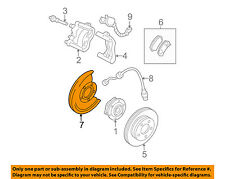 GM OEM Disc Brake-Front-Backing Plate Dust Splash Shield Right 15001401