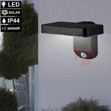 LED SOLAR Außen Bereich Wand Leuchte Grundstück Garten Lampe Bewegungsmelder