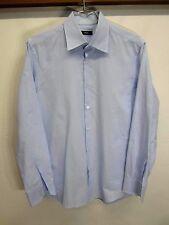 vtg Hugo Boss Dress Shirt blue striped 100% cotton sz 16
