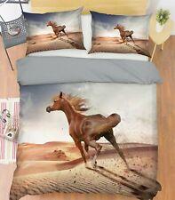 3D Desert Horse R144 Animal Bed Pillowcases Quilt Duvet Cover Queen King Zoe