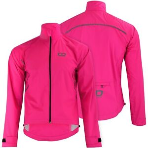 Didoo Womens Waterproof Cycling Jacket Ladies Reflective Windproof Running Coat