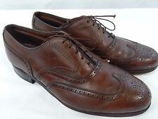 Footjoy Classics 74062 Wingtip Dress Shoes Brown Leather Mens Size 9 1/2