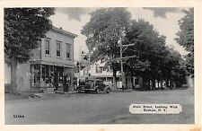 c.1940 Marshall Bell Store Gas Station Main St Durham NY postcard Greene county