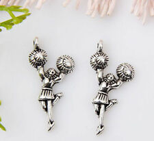 12pcs Zinc alloy Cheerleaders girl pendants 29x14mm 1A1444