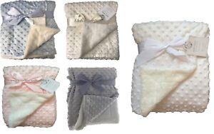 Newborn Baby Soft Bubble Blanket Pram Crib Moses Basket Boy Girl Unisex 0+ Month