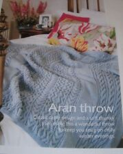 Pretty Aran Style Throw ~ Classic Cable Design ~ Chunky Knitting Pattern