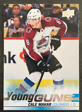 2019-20 CALE MAKAR UPPER DECK YOUNG GUNS ROOKIE CARD #493 - New From Pack!!