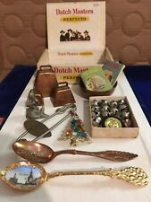 Cute Junk Drawer Lot of Vintage & Other Items - Souvenir Spoons, Bells, Pewter