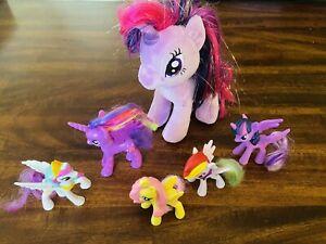 My Little Pony Lot Of 6 - Plush ~ Plastic ~ Hasbro ~ Twilight Sparkle ~ Rainbow
