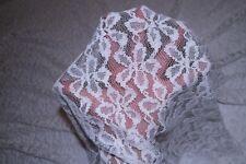 Ivory Floral Stretch Lace #71 Nylon Lycra Spandex Apparel Fabric BTY