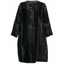 MAX MARA Women's Persia Black Reversible Cotton Blend Coat US 16 $1,250 NWT