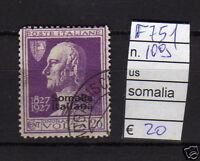 FRANCOBOLLI ITALIA COLONIE SOMALIA USATI N°109 (F751)
