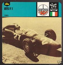 ATS F1 Formula 1 Racing Car CARD Carlo Chiti 1963 Photo
