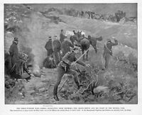 GRECO TURKISH WAR GREEKS RETREATING FROM DHOMOKO, SWORD