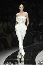 $18,125 NEW VERSACE ONE SHOULDER WHITE LONG DRESS GOWN WITH HEART 42 - 6