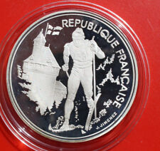 """France-Frankreich: 100 Francs 1991 Silber,KM# 994, Proof, #F 1483, """"Albertville"""""""