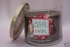 1 MOCHA LATTE SWIRL BATH & BODY WORKS HOME 14.5 OZ 3-WICK SCENTED LARGE CANDLE