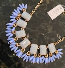J.Crew Factory BEADED FRINGE GEMSTONE NECKLACE! Sold Out! $54.50 FADED PERI