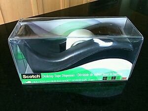 Tape Dispenser C 60 1'' Core Scotch Weighted Base Desktop Table Top Office Home