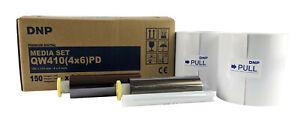 """DNP Premium Digital Media for QW410 Printer, 4x6"""" Roll, 150 Prints/Roll, 2 Rolls"""