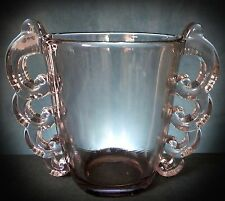LOVELY VERY RARE LOOP WINGED ARTWARE GLASS VASE by PIERRE D'AVESN