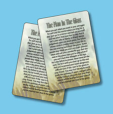 """""""The Man In The Glass"""" - Poem - 2 Verse Cards - SKU# 802"""