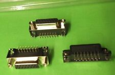 """Dee 15 Way Socket Right Angle 8.1mm 0.318"""" Female D PCB x 10pcs ONO our 3013-12T"""