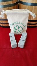 6 O'Malley's Whiskey Stones Rocks Ice Cubes Soapstone Wine Bev Chillers, BULK