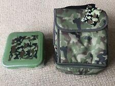 Armée Imprimé Sac à Lunch/boîte et correspondant à sandwich Box. NEUF/scellé. Bn...